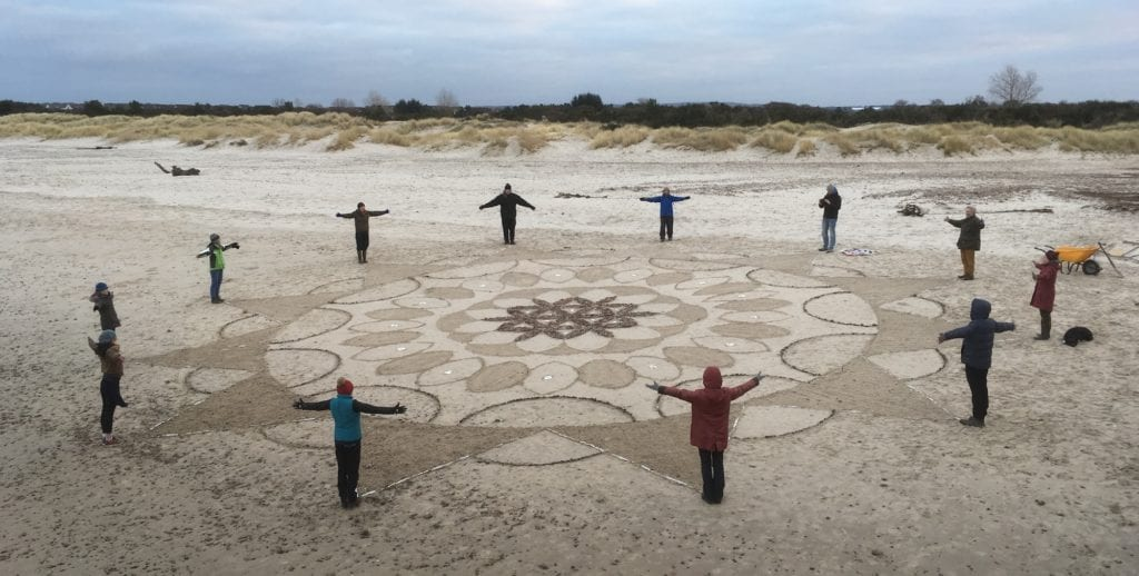 Beach mandala, Nairn, UK by Hiddenglen Holidays