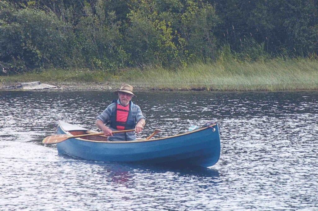 Robbie on Loch Insch